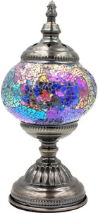 Handmade Mosaic Glass Table Lamp - Multicolor 4