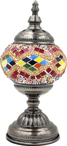 Handmade Mosaic Glass Table Lamp - Multicolor 3