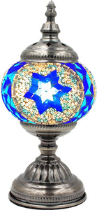 Handmade Mosaic Glass Table Lamp - Multicolor 2