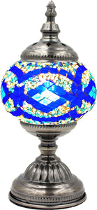 Handmade Mosaic Glass Table Lamp - Multicolor 1