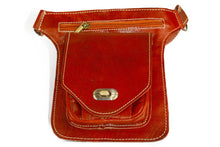 Load image into Gallery viewer, Moroccan Leather Messenger Crossbody Bag #001 - Multiple colors