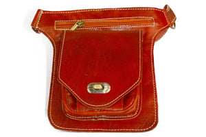 Moroccan Leather Messenger Crossbody Bag #001 - Multiple colors