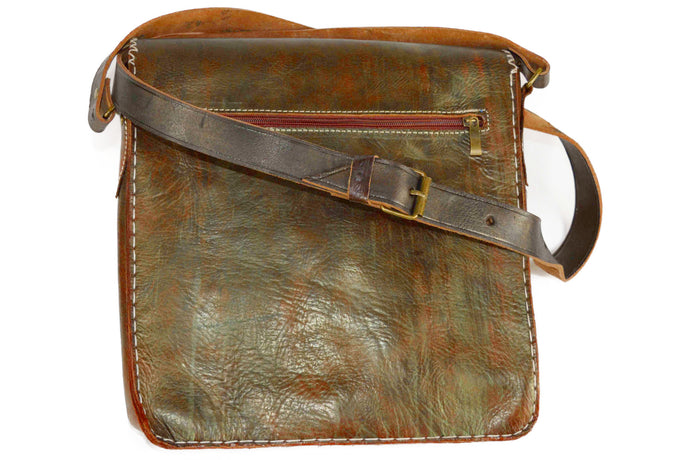 Moroccan Genuine Leather Saddle Bag - Multiple colors