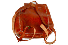 Load image into Gallery viewer, Moroccan Genuine Leather Backpack - Multiple colors