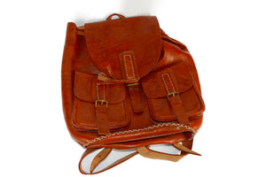 Moroccan Genuine Leather Backpack - Multiple colors