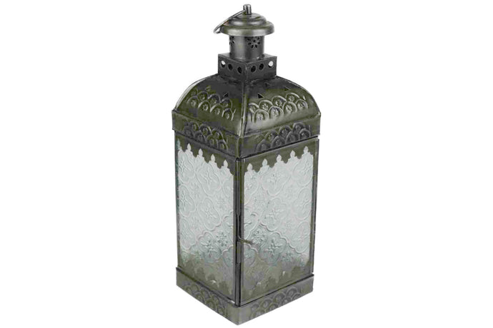 Moroccan Brass Lantern with glass panels