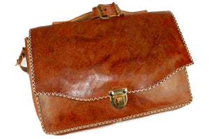 Moroccan Genuine Leather Business Bag - Multiple colors