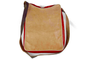 Moroccan Genuine Leather Square Flat Bag - Multiple colors