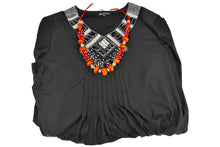 Load image into Gallery viewer, Moroccan Necklace, with orange and red beads