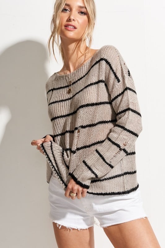 The Essie Striped Sweater