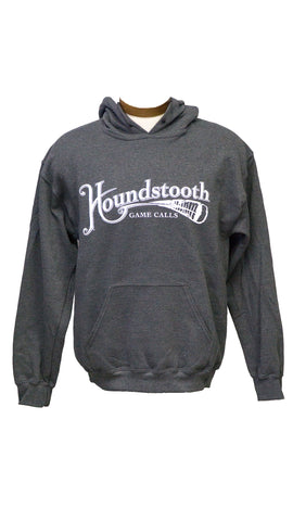 Houndstooth Logo Charcoal Hoodie