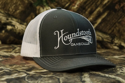 Houndstooth Game Calls Turkey Feather Charcoal/White Snap Back Hat