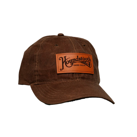 Houndstooth Game Calls Leather Patch Waxed Hat
