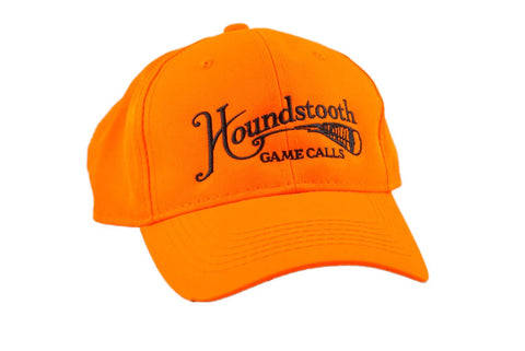 Houndstooth Hunter Orange Logo Hat