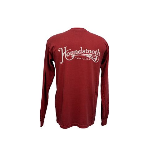 Houndstooth Crimson Logo Long Sleeve