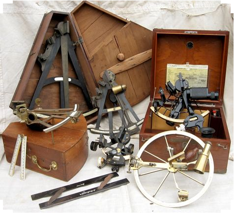 NAVIGATION EQUIPMENT AND SEXTANT