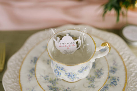 tea party favours for bridal shower