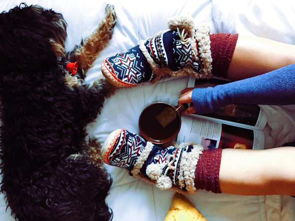 warm socks and a cute dog - what more do you need for hygge?