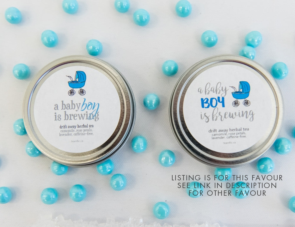 A Baby Boy is Brewing (Style #2) - Baby Shower Favour-Tearrific
