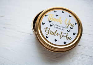 Gold Bridal Shower Favour-Tearrific