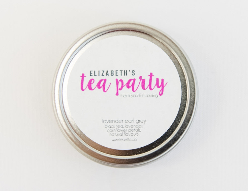 Personalized Tea Party Favour-Tearrific