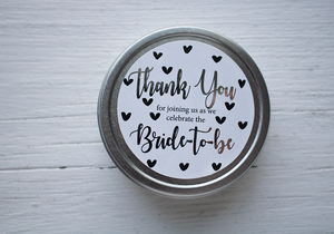 Silver Bridal Shower Favour-Tearrific