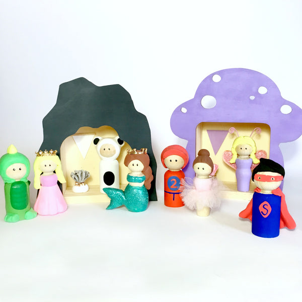 Kids Peg Doll Toppers
