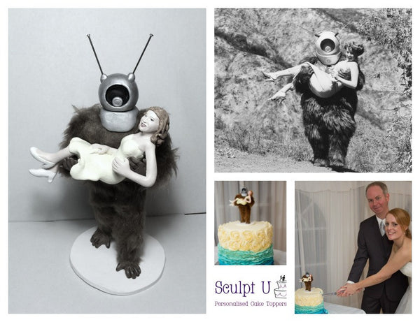 3D ROBOT Cult Classic Custom Cake Topper Realistic Keepsake Wedding Movie Character