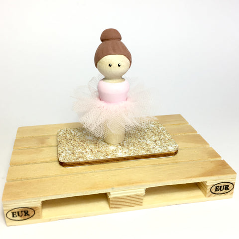 Ballerina Peg Doll (with house add on option)