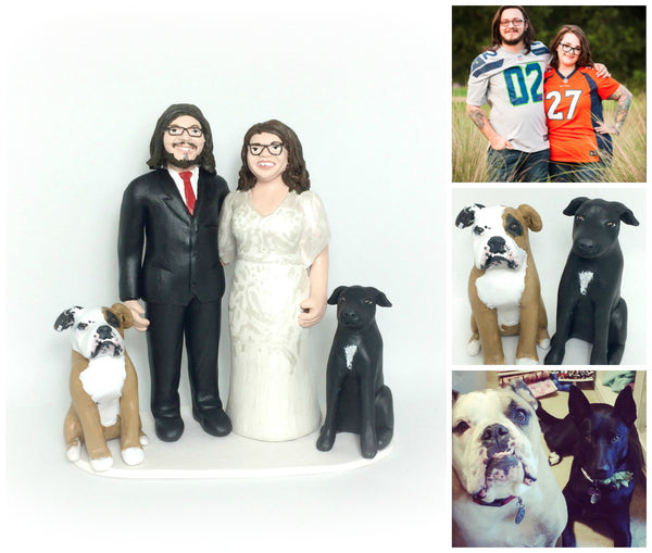 realistic custom birthday cake topper polymer clay handmade figurine keepsake wedding pets dogs