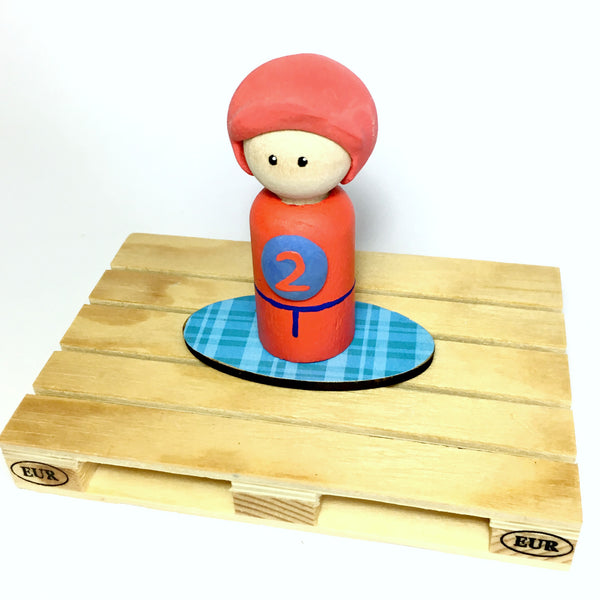 Race Car Driver Peg Doll (with house add on option)