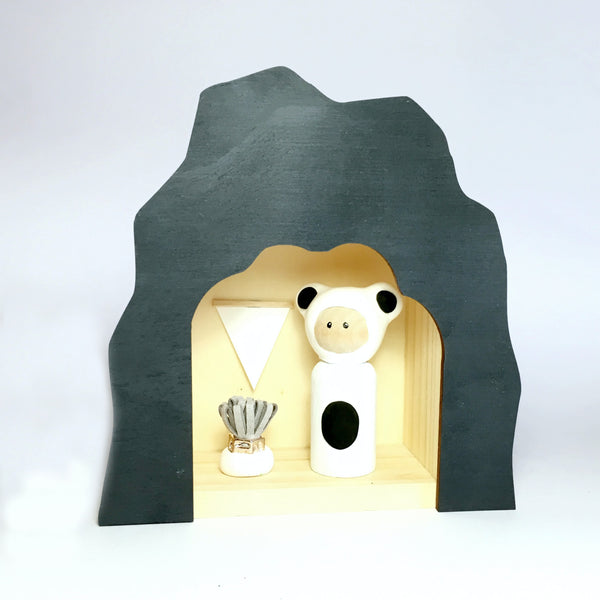 Bear Peg Doll (with house add on option)