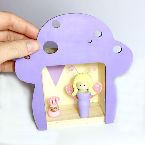 Fairy Peg Doll (with house add on option)