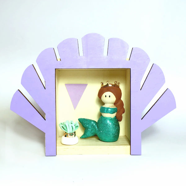 Mermaid Peg Doll (with house add on option)