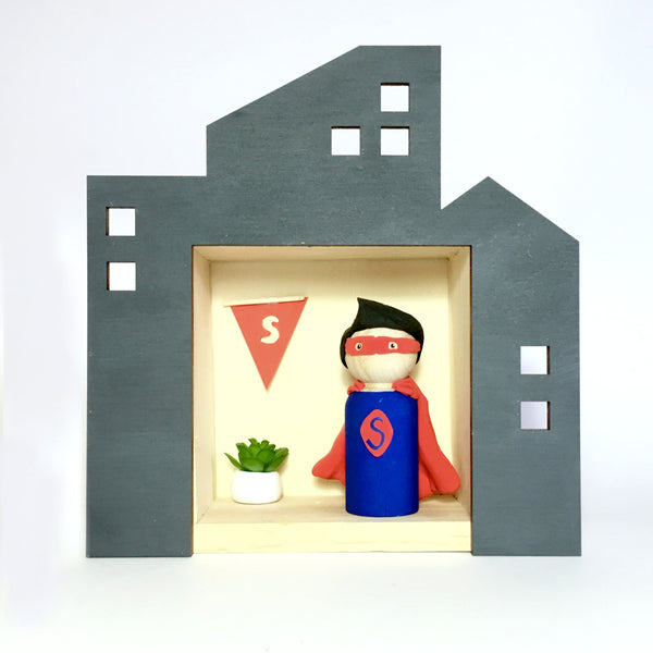 Superhero Peg Doll (with house add on option)