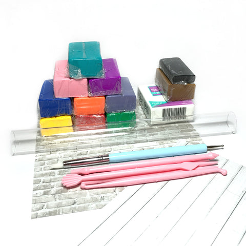 Starter polymer clay kit - Large Rainbow