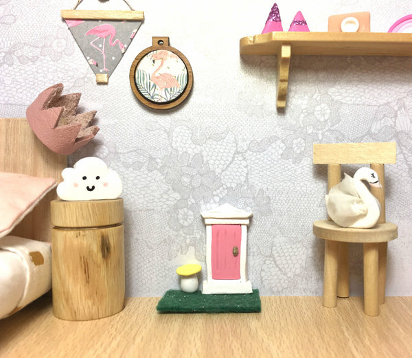 Modern Miniatures Dollhouse Fairy Door Enchanted Girls Decor Miniature Handmade That Little Nook Creative Doll house Tiny World