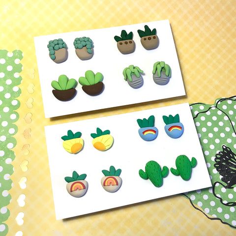 Mini Plant Earrings