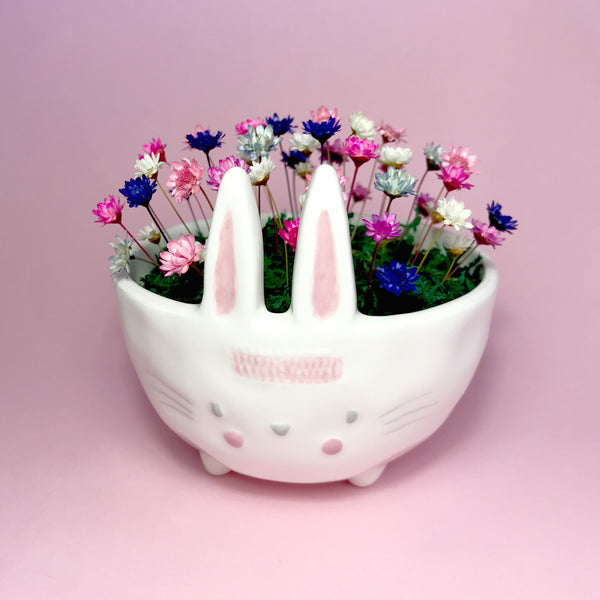 Bunny Bloom Bowls with flowers