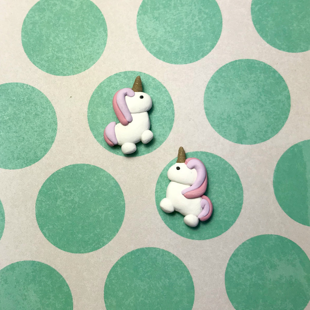 Puffy Unicorn Earrings