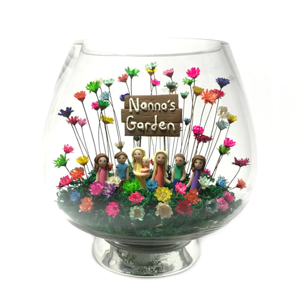 Large Balloon Vase with Figures and Sign