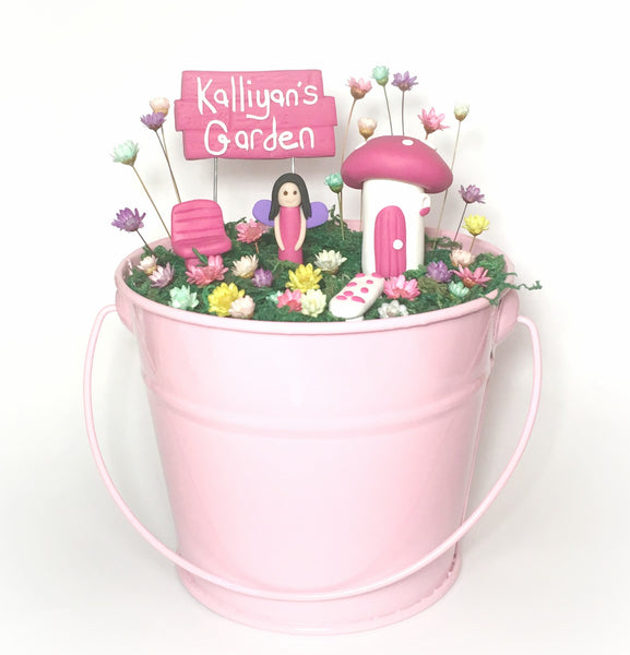 Tin Pail Fairy Garden