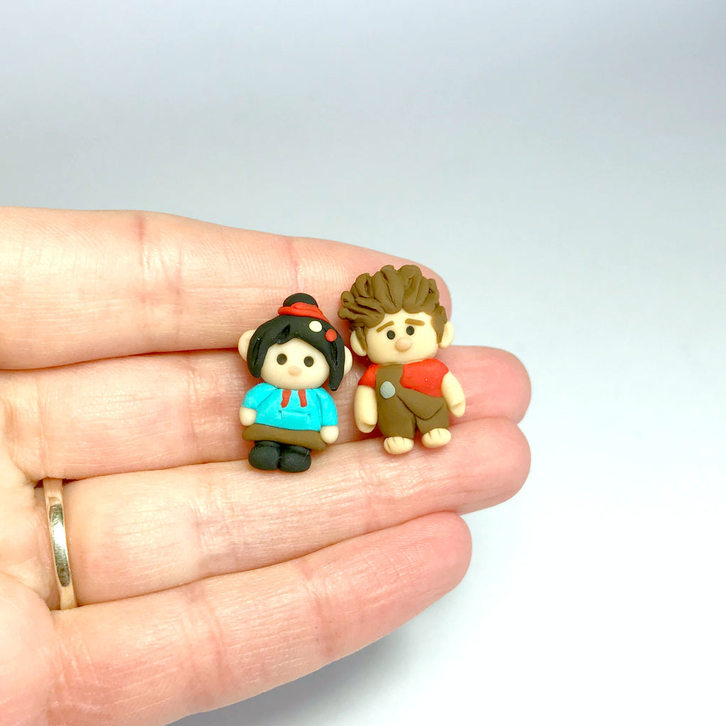 Clay Character Earrings