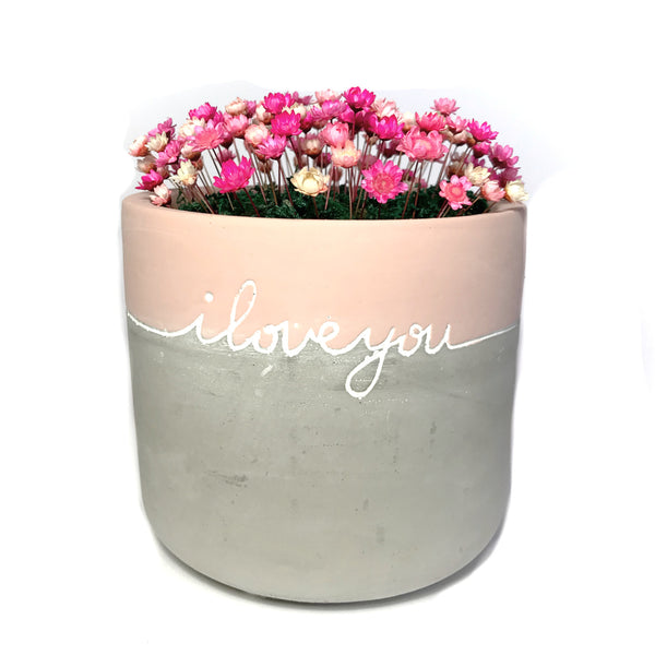 'I love you' with flowers
