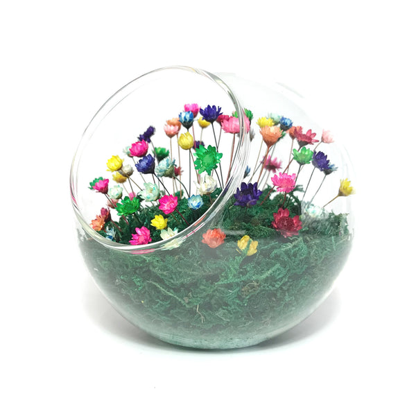 Sphere with flowers
