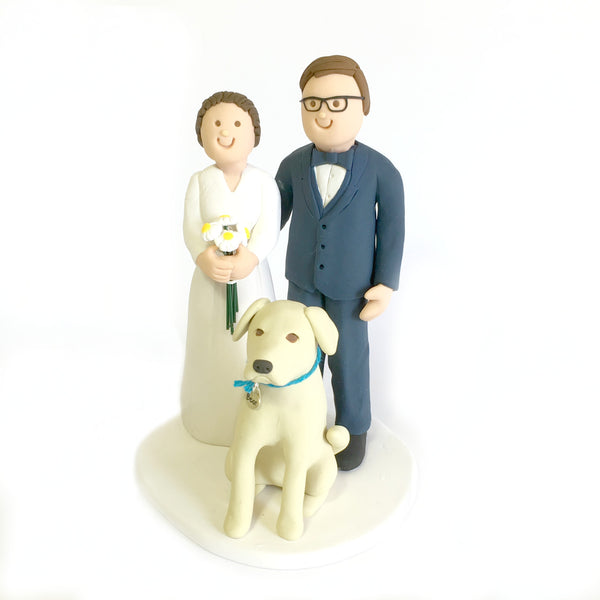 Cartoon Cake Topper with Pets
