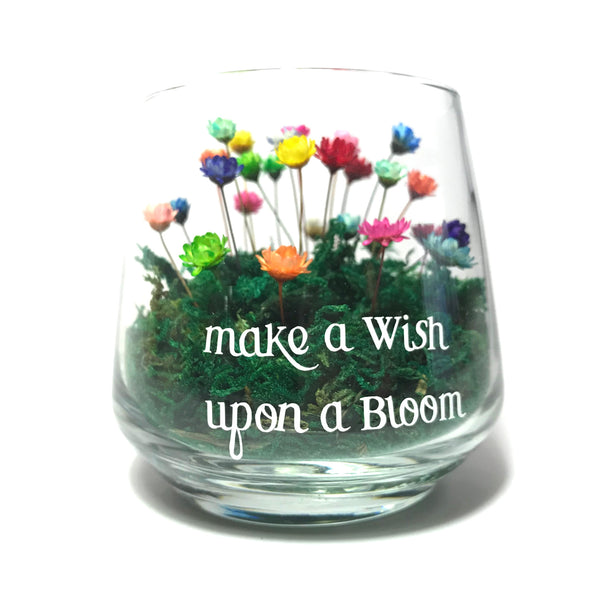 Cup with graphic 'make a Wish upon a Bloom'