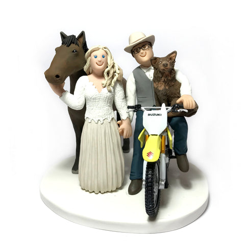 Cartoon Custom Family Wedding Cake Topper