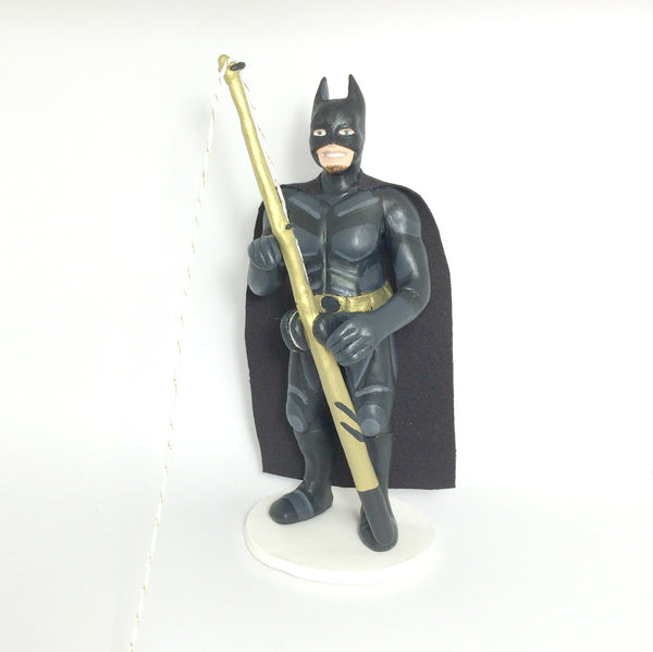realistic custom birthday cake topper polymer clay handmade figurine keepsake wedding batman fishing
