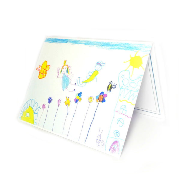 Fairy Gift Card  - drawn by 6 year old Elena